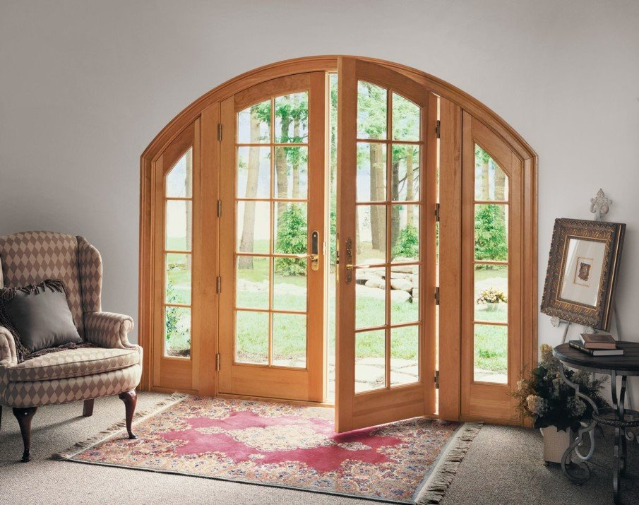 Arched French patio doors from Marvin