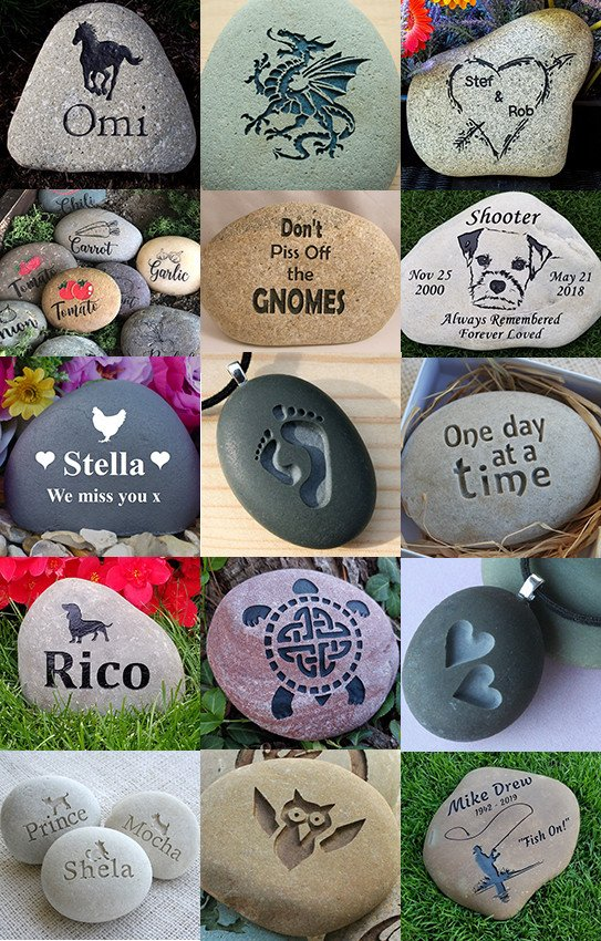 50 Best Engraved River Rock Ideas - they make great gifts too