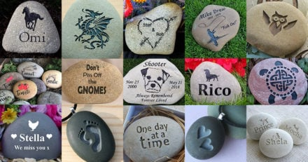 Engraved River Rock Ideas