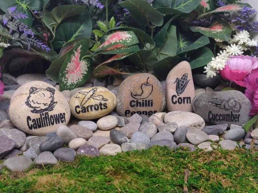 Oversized Garden Marker Stones