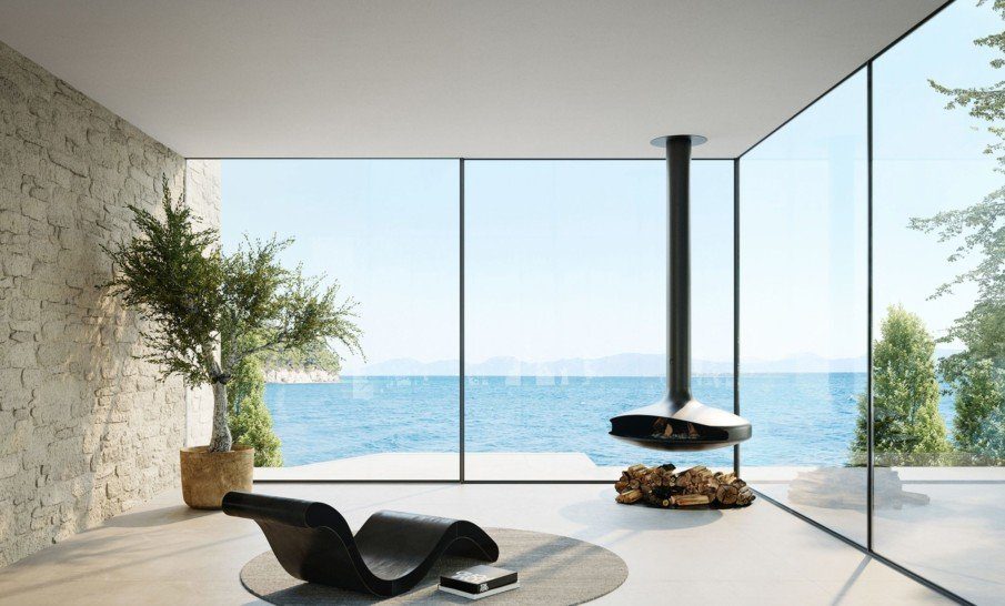 Large Surface Frameless Sliding Patio Doors