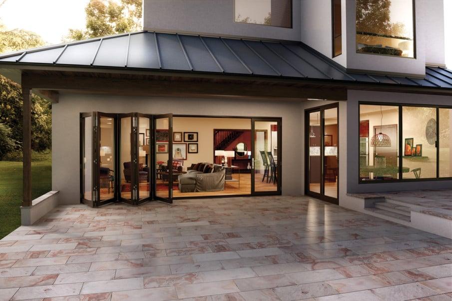Bi-fold patio doors example by Milgard