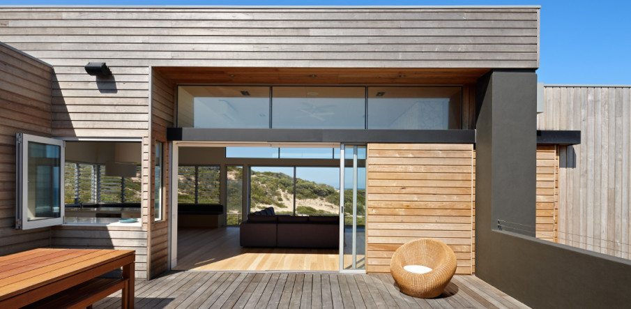 Lacantina Pocket Patio Doors slide into the wall completely out of view