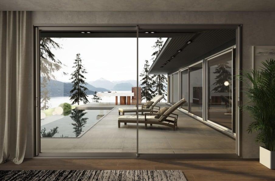 Double glazing sliding patio doors by Sunroom