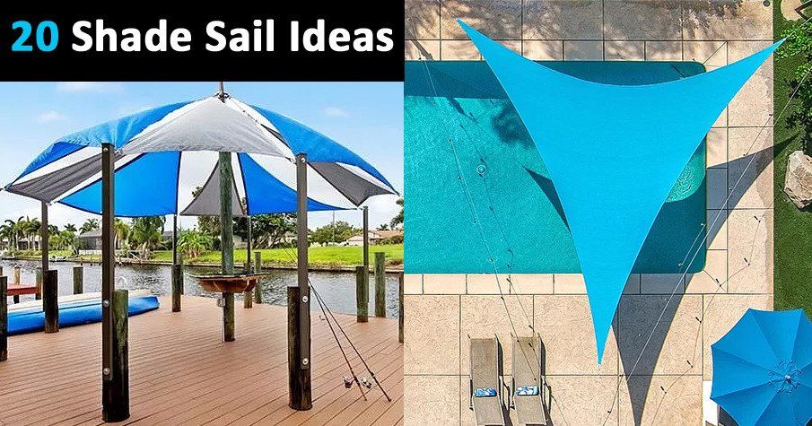 Shade sail ideas for covered patios
