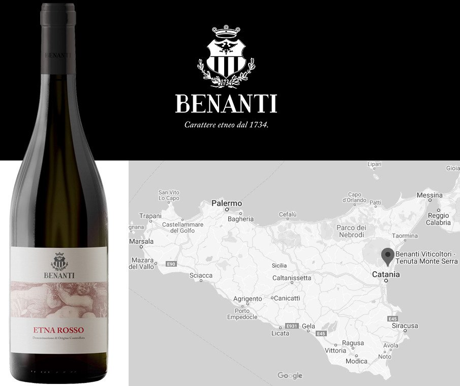 Best Seasonal Red Wines for Autumn - Benanti Etna Rosso 2016