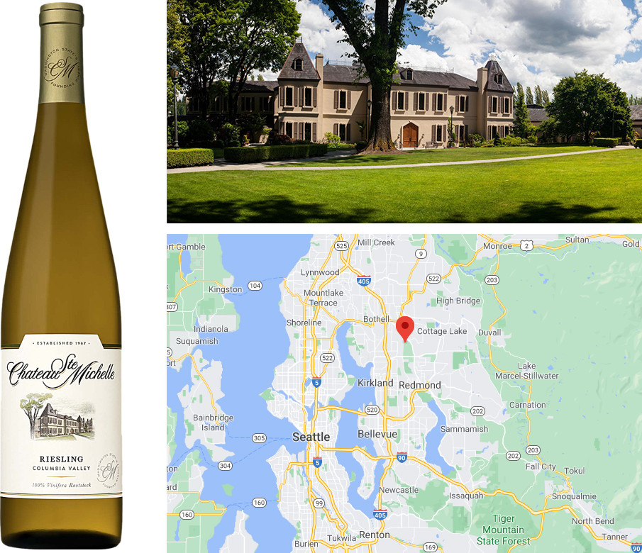 Top white wines for the Fall - Columbia Valley Riesling from Chateau Ste Michelle, Washington, USA