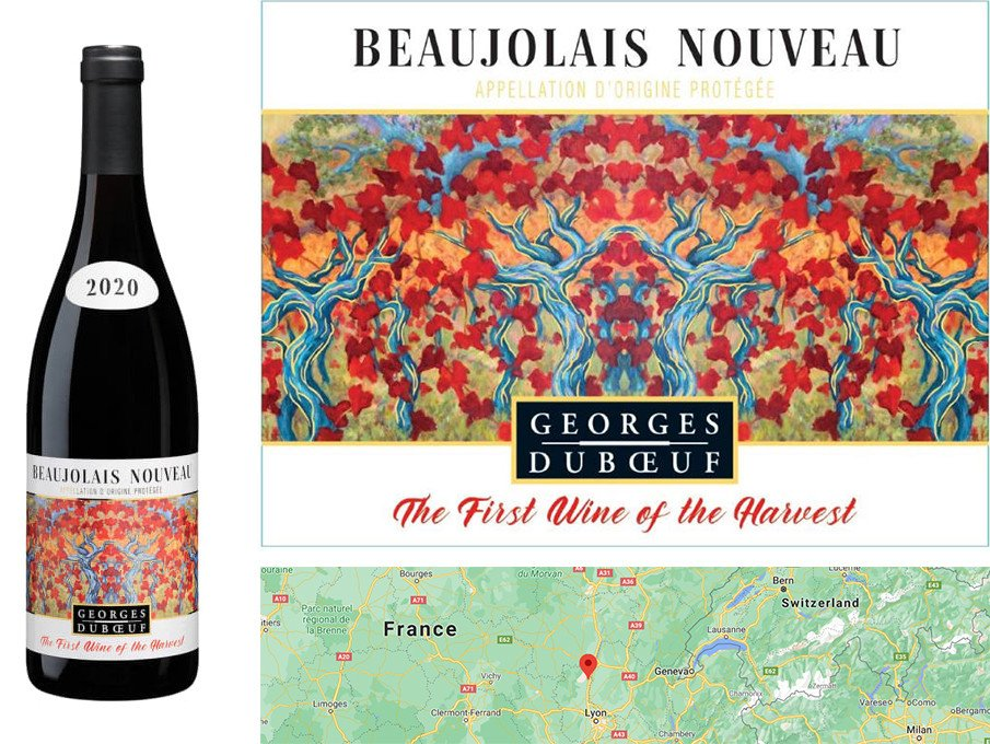 Best Autumn Red Wines - Duboeuf Beaujolais Nouveau 2020