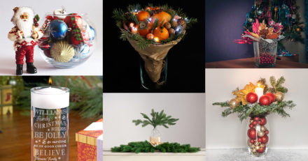 Glass Vases Decoration Ideas for Christmas - 25 Beautiful Arrangements