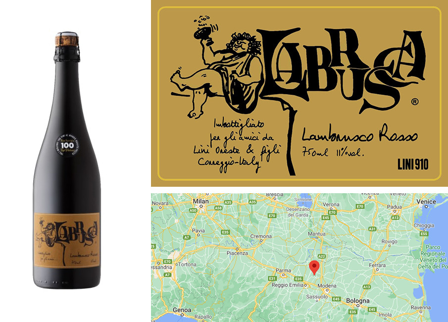 Best Red Sparkling Wine for Fall - Lini 910 Labrusca Lambrusco Rosso