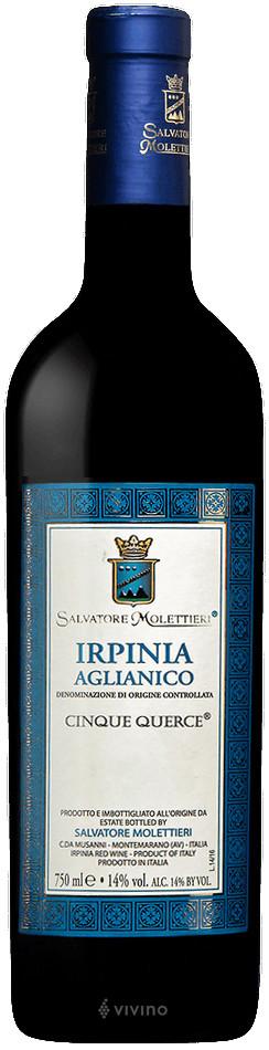 Salvatore Molettieri Cinque Querce Irpinia Aglianico 2016 red wine