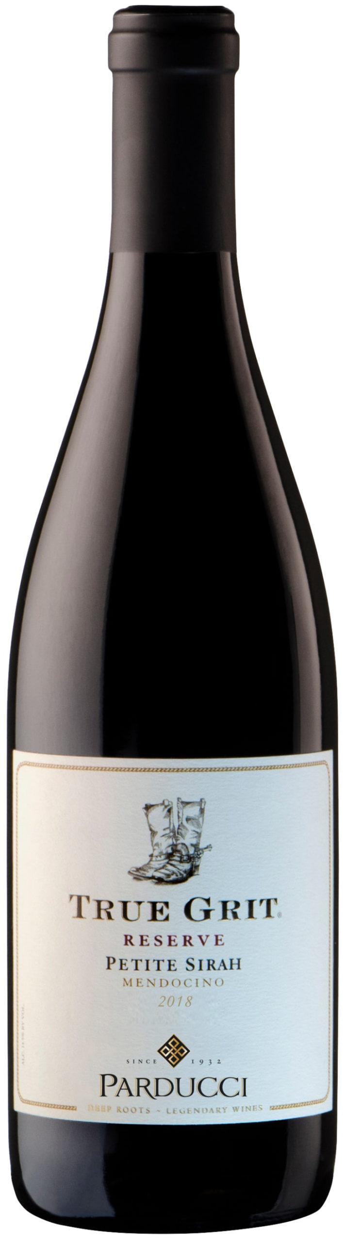 Parducci True Grit Reserve Petite Sirah 2018 red wine