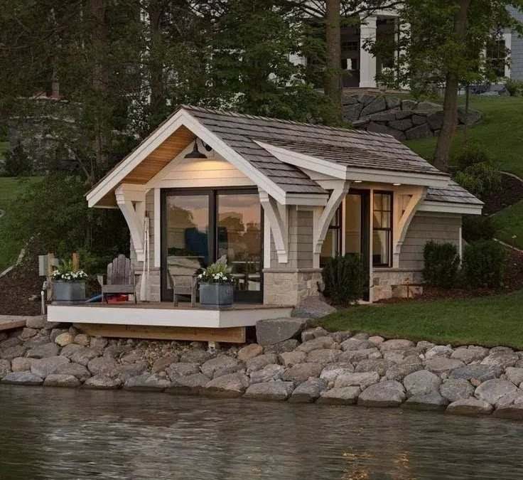 A waterfront bunkie is as good as a small home
