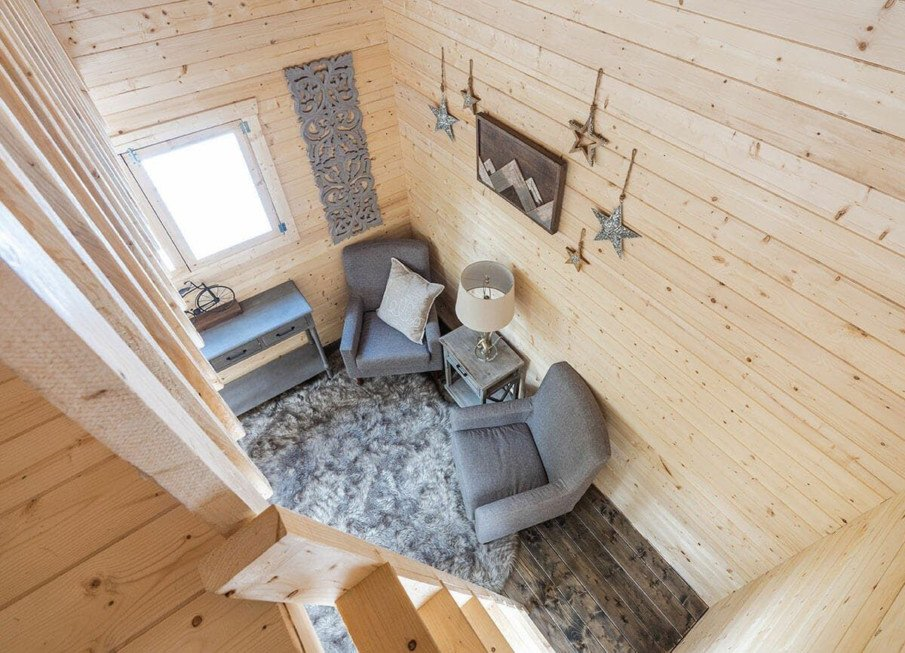 Tastefully decorated bunkie interior