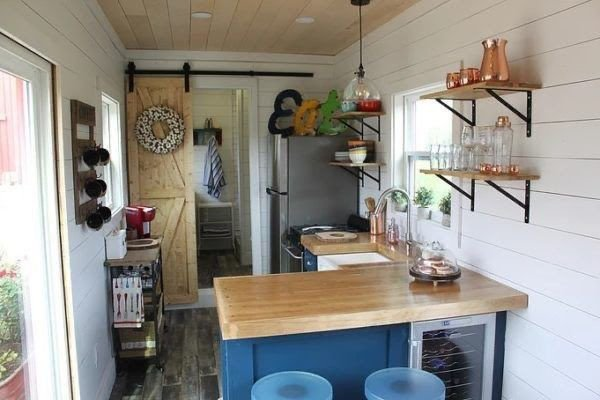 A bunkie with a kitchen