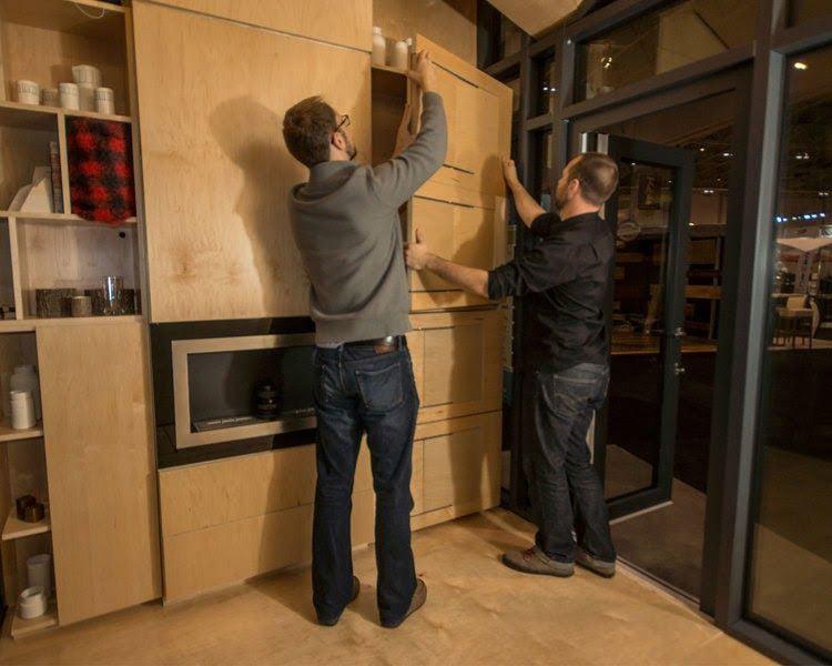 Assembling a bunkie interior