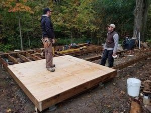 Building a bunkie floor
