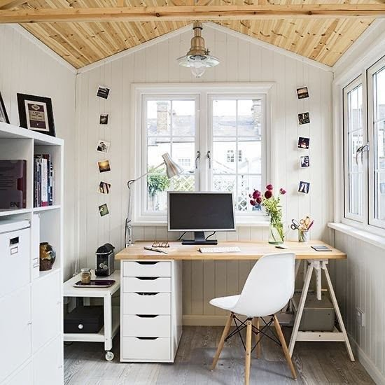 A bunkie home office
