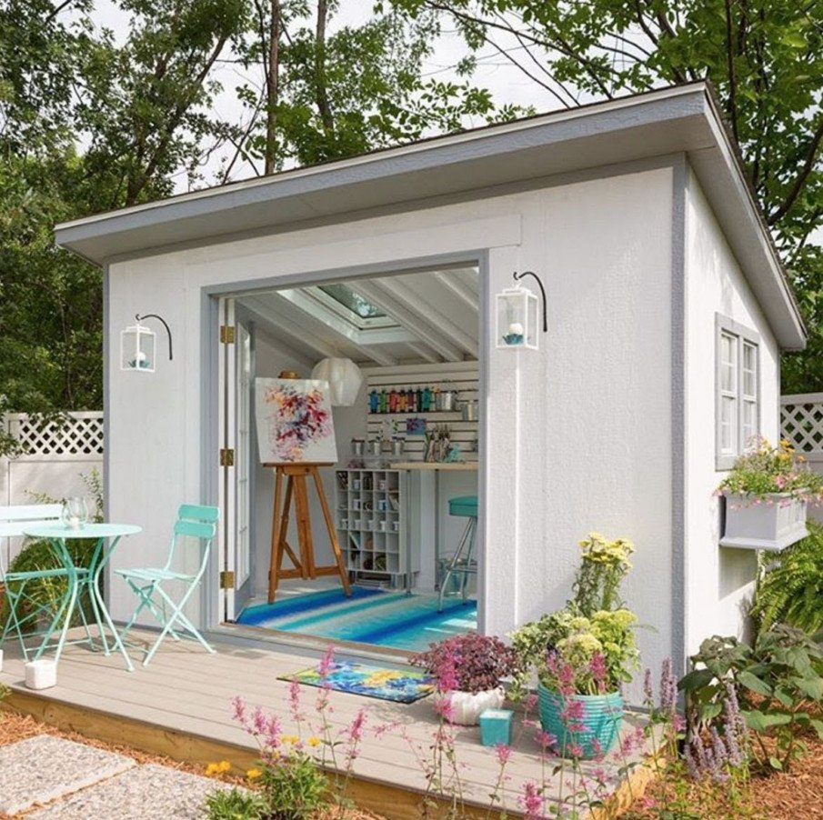 A bunkie as a craft studio