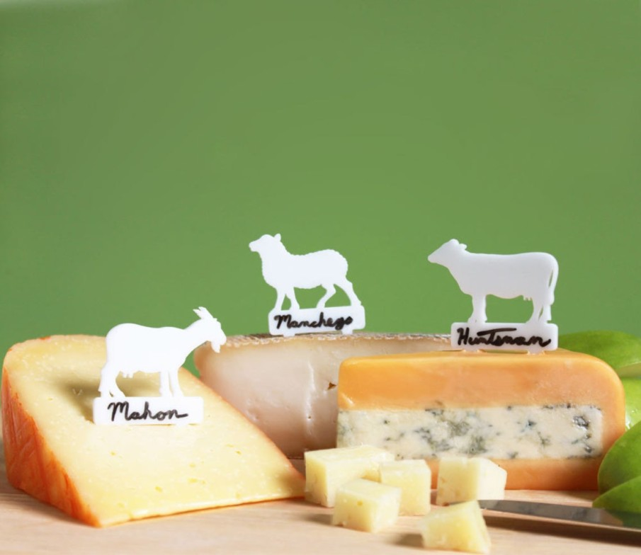 Acrylic animal shaped cheese markers