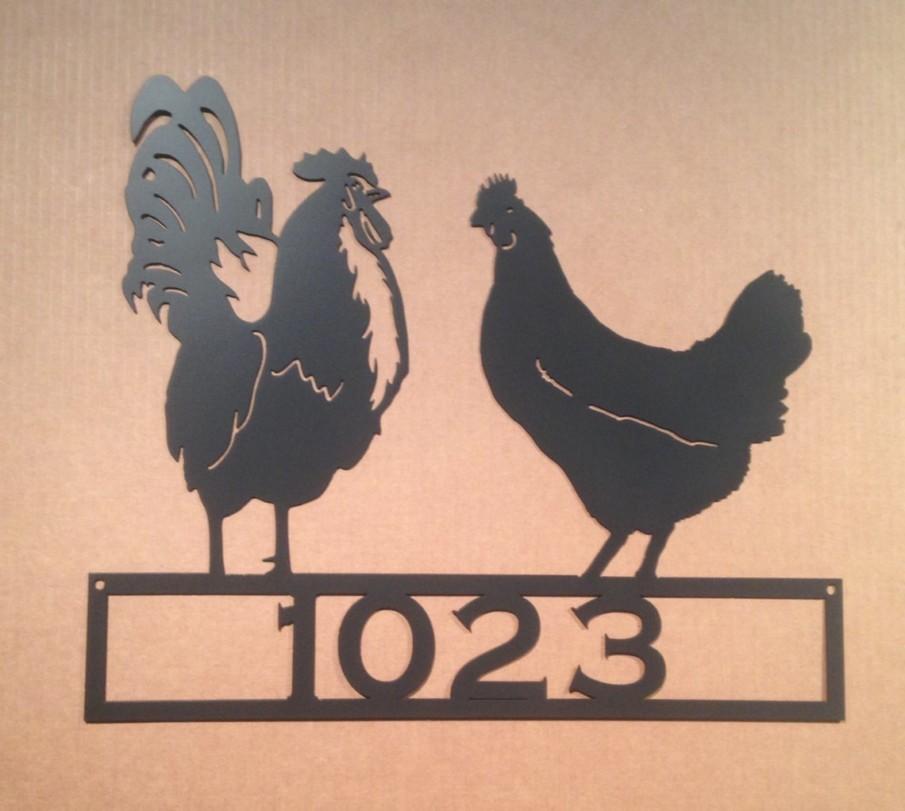 Chicken yard house address number
