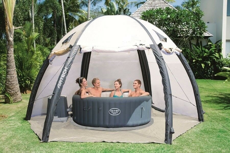 Hot tub inflatable privacy dome
