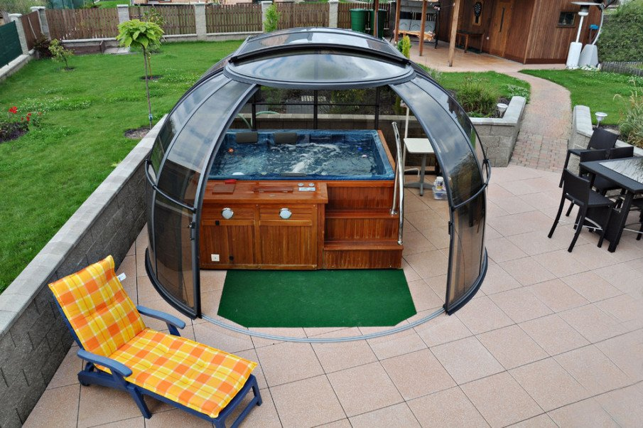 hot tub privacy dome