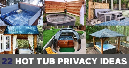 Hot tub privacy ideas for every buget