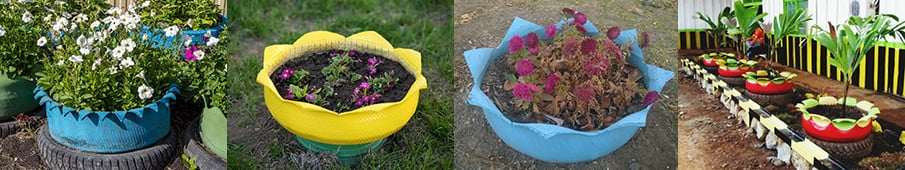 Build Inside Out painted tire planters