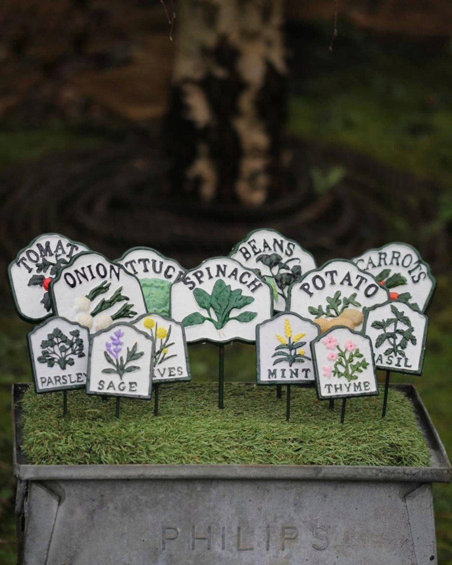 Iron herb markers