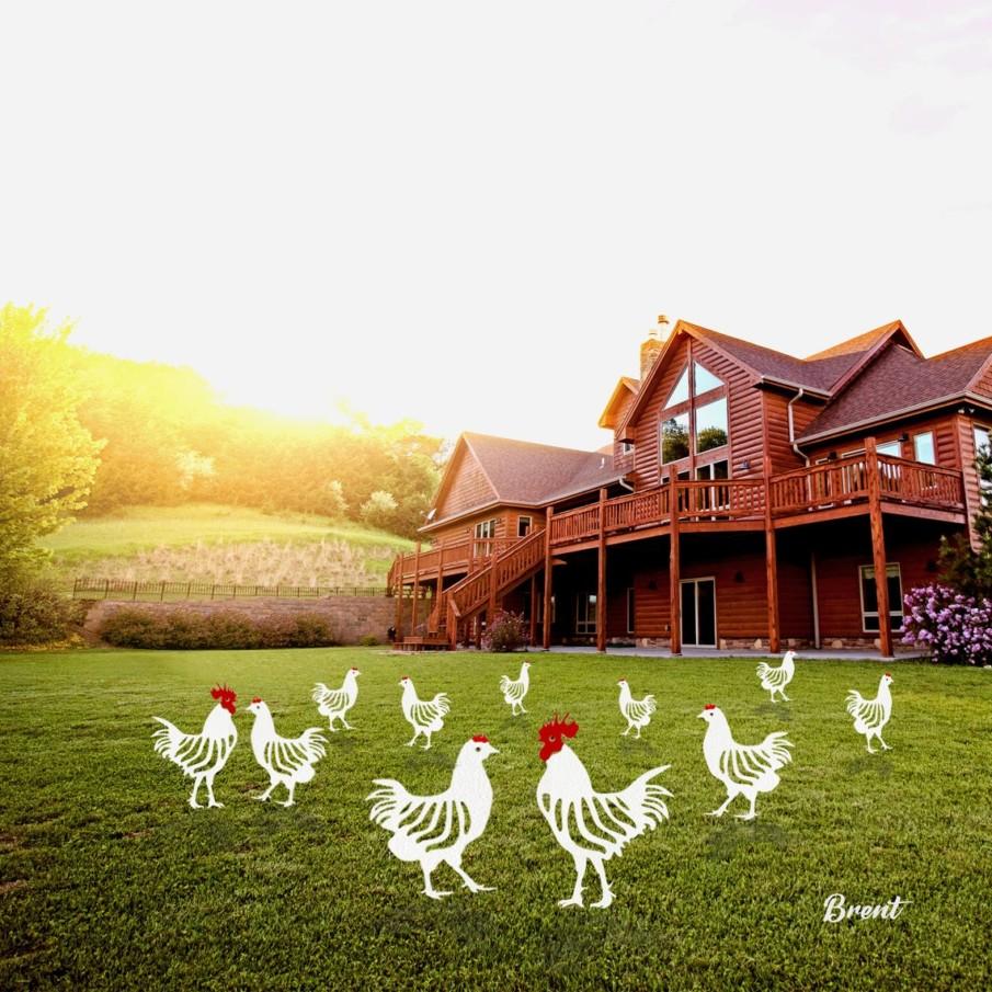 Chicken yard art ideas