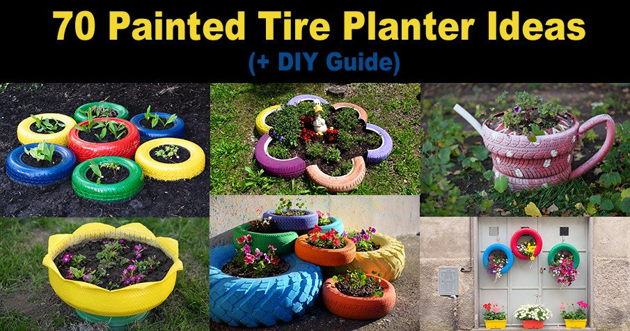 Painted Tire Planters DIY Ideas and Photos