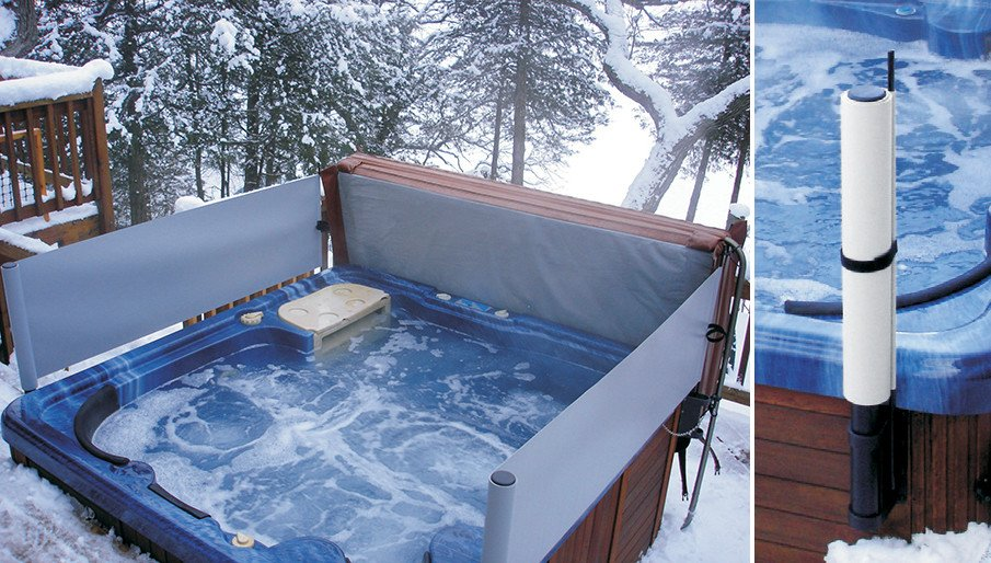 Retractable hot tub screens by mooselakeproducts