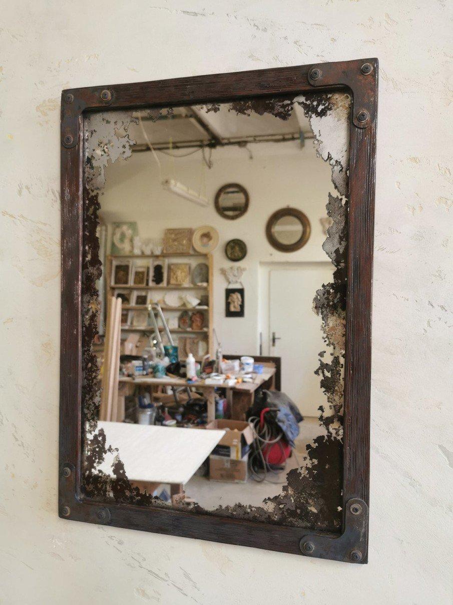 Distressed vintage style mirror