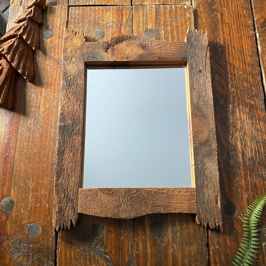 Rustic rough edge farmhouse mirror