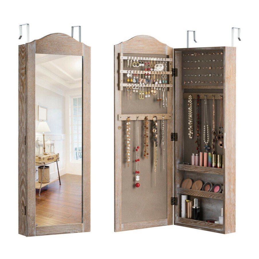 Mirror with cabinet for accessories