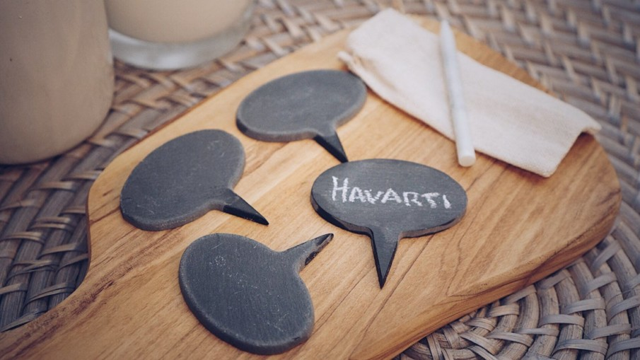 Reusable slate cheese markers