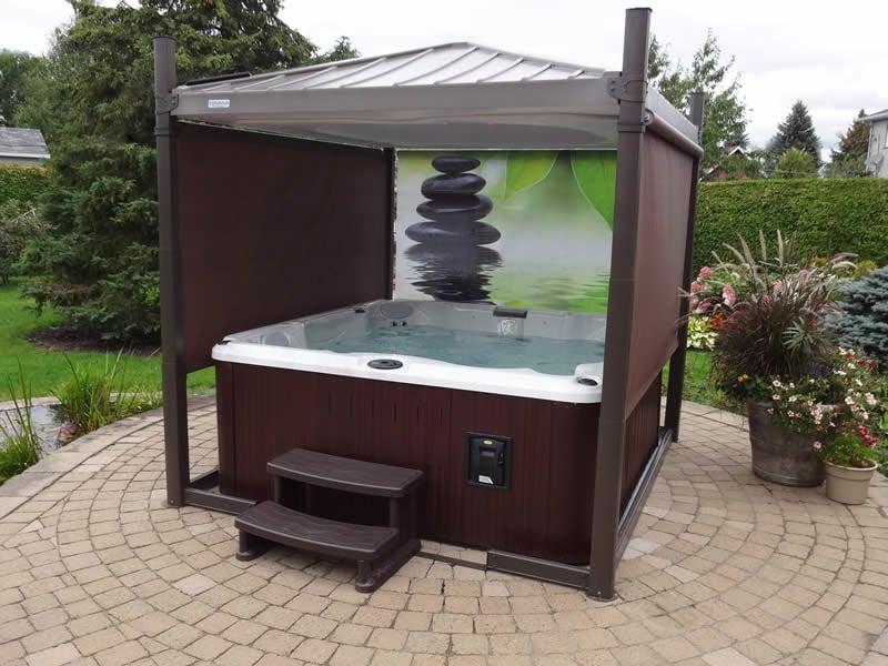Covana metal hot tub cover idea