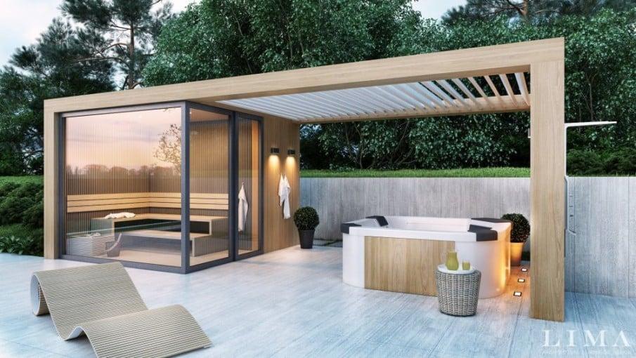 Modern hot tub pergola design ideas