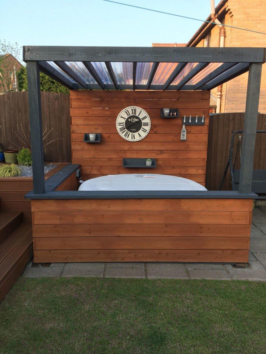 Modern pergola for a hot tub