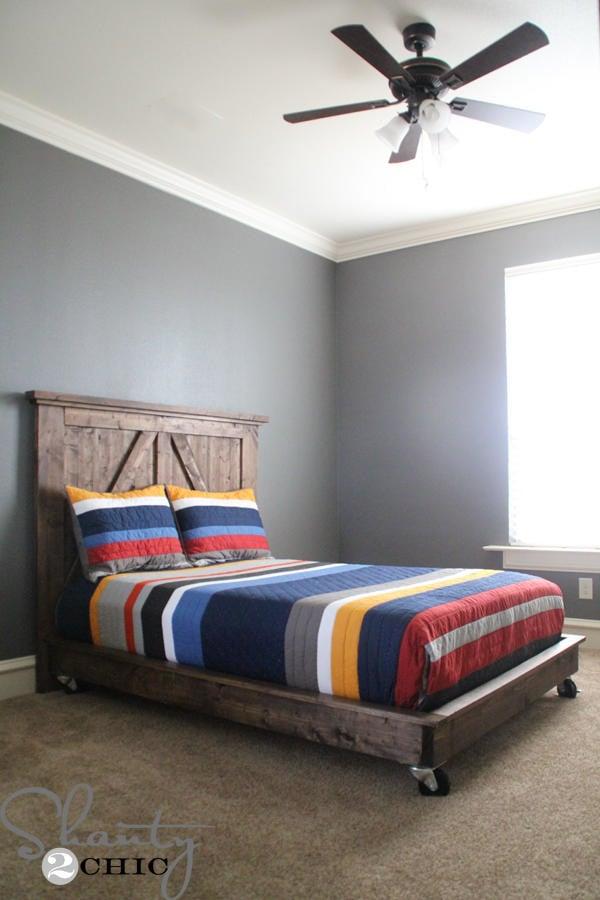 diy barn door style bed