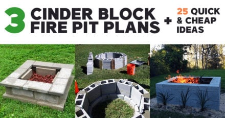 DIY Cinder Block Fire Pit Ideas and Plans