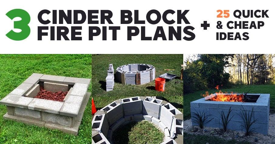 DIY Cinder Block Fire Pit Ideas and Plans