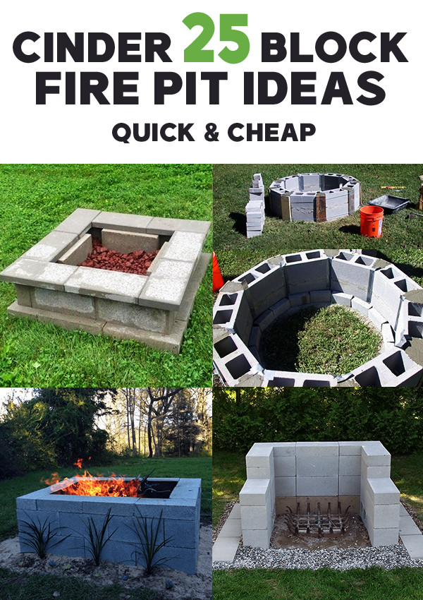 25 Cinder Block Fire Pit Ideas