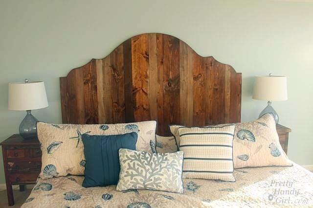 diy wooden farmhouse style headboard