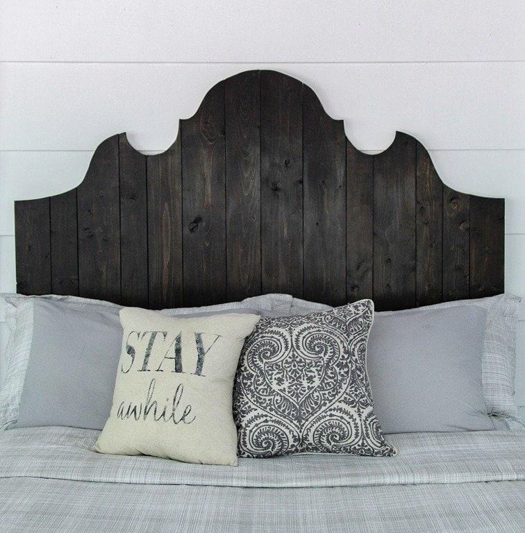 diy farmhouse style headboard queen size