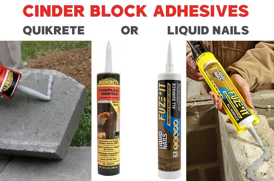 Cinder Block Adhesives for a fire pit (my recommendation only - ask questions in the store)