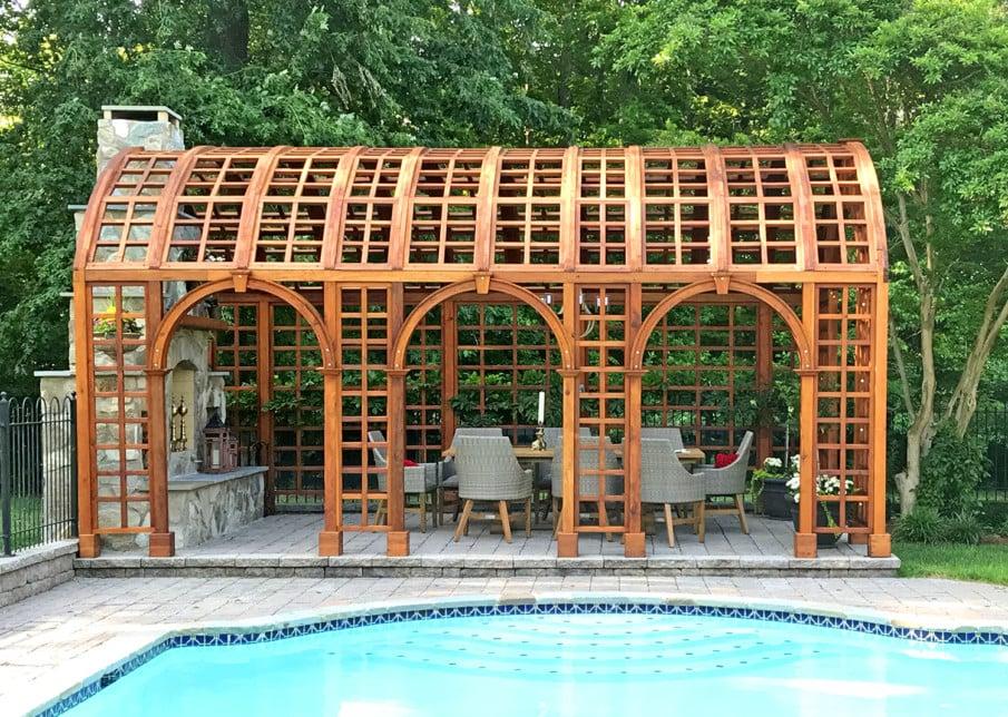 Unique arched pergola design