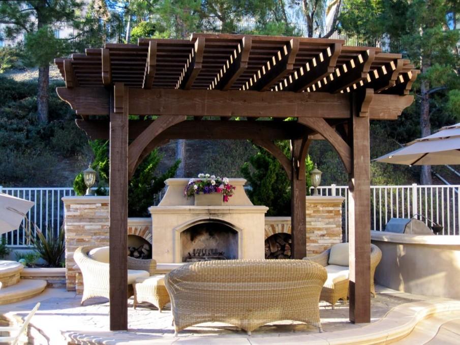 A round roof pergola kit