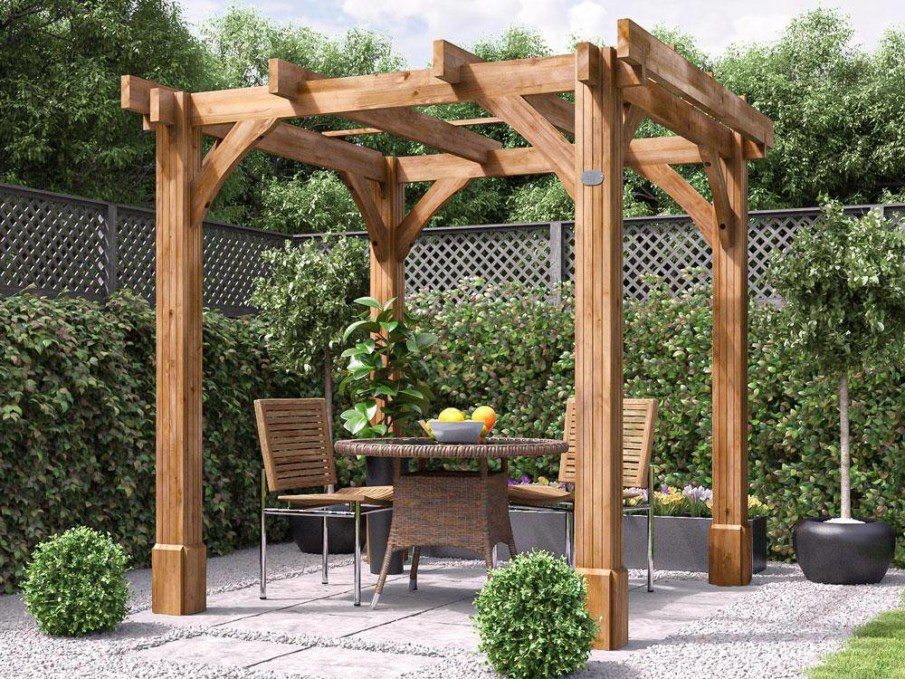 A simple DIY kit for a freestanding pergola